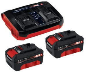 Batteri og dobbelt oplader 18 Volt 3,0 Ah Power X-Change