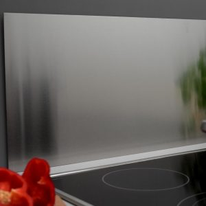Stænkplade Home>it I børstet rustfri stål 900 x 450 mm.
