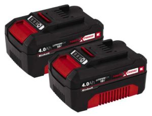 Batteri Einhell Twinpack 2 stk. 18 Volt 4,0 Ah Power X-Change batterier